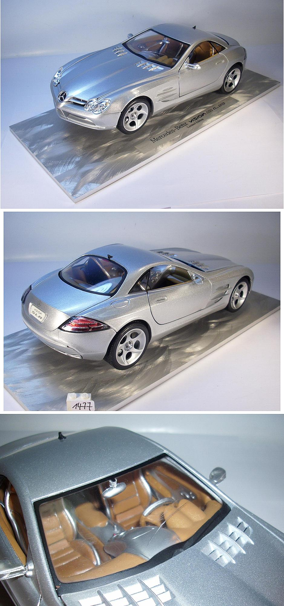maisto 1 18 mercedes benz vision slr auf aluplatte limited edition 1477 ebay. Black Bedroom Furniture Sets. Home Design Ideas