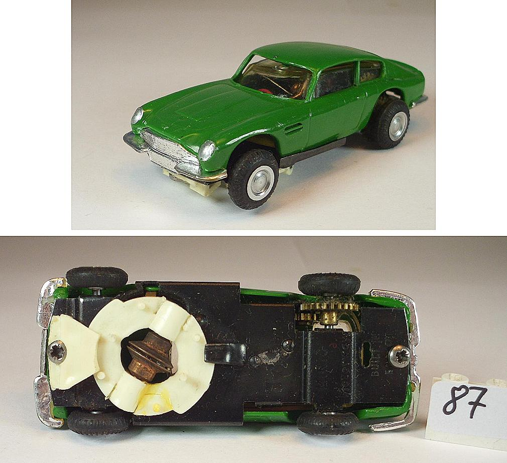 Slot Car Triang Minic Motorways Aston Martin DB5 Grün 1/60
