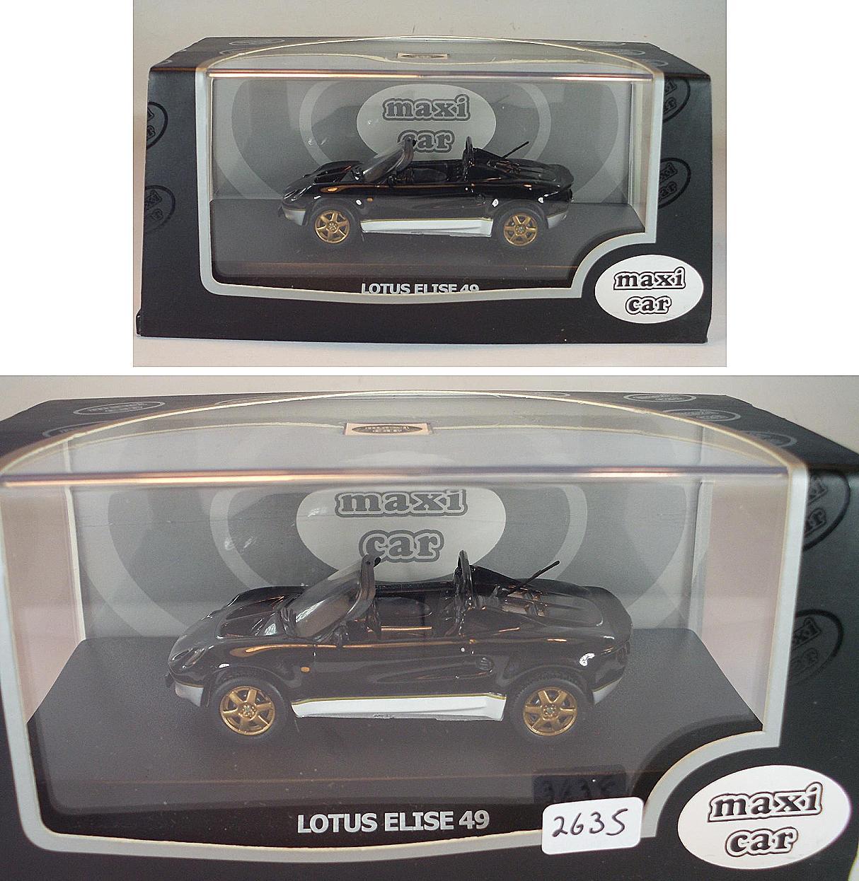 Lotus Elise 49 Gelb Mark i 1 Generation 1//43 Maxi Car Modell Auto Modellauto So