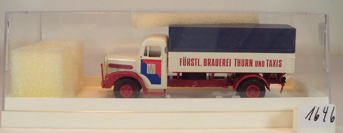 Ingbert Modell 1:87 H0 Brekina MAN F8 Koffer LKW Becker Pilsener Brauerei St