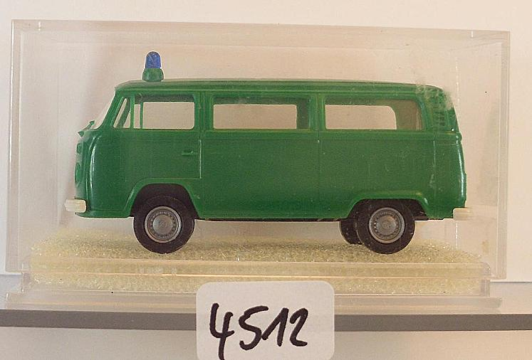 OVP #4522 Brekina 1//87 Nr 3308 Volkswagen Bulli VW T2 Bus Polizei Lautsprech