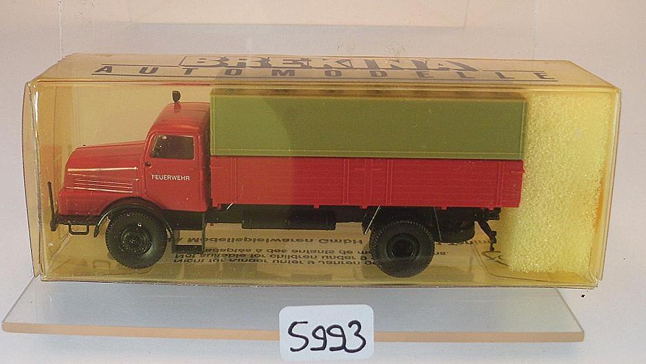 1//87 Brekina IFA H6 Pritsche Plane Feuerwehr 71033