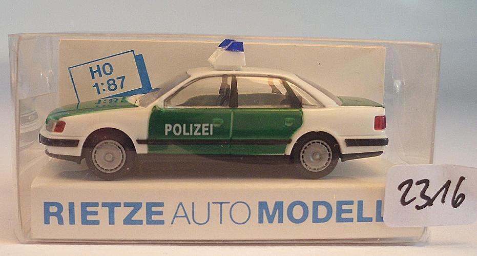 Rietze 1//87 50423 Audi 100 Limousine Polizei OVP #2316