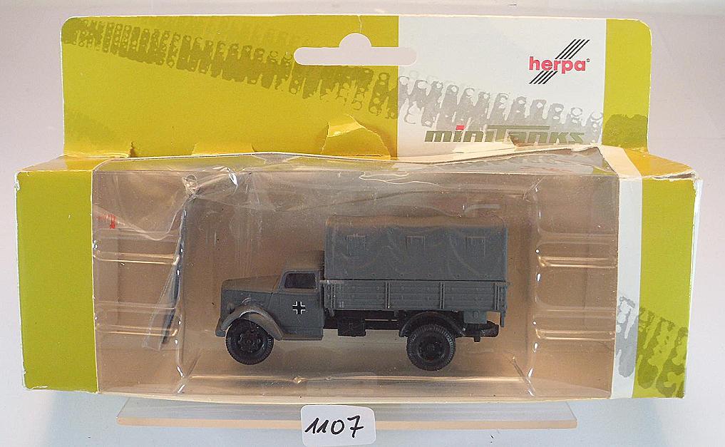 Plane LKW UDSSR Armee OVP #1164 Roco Minitanks 1//87 Nr.1236 ZIS 5 Pritsche
