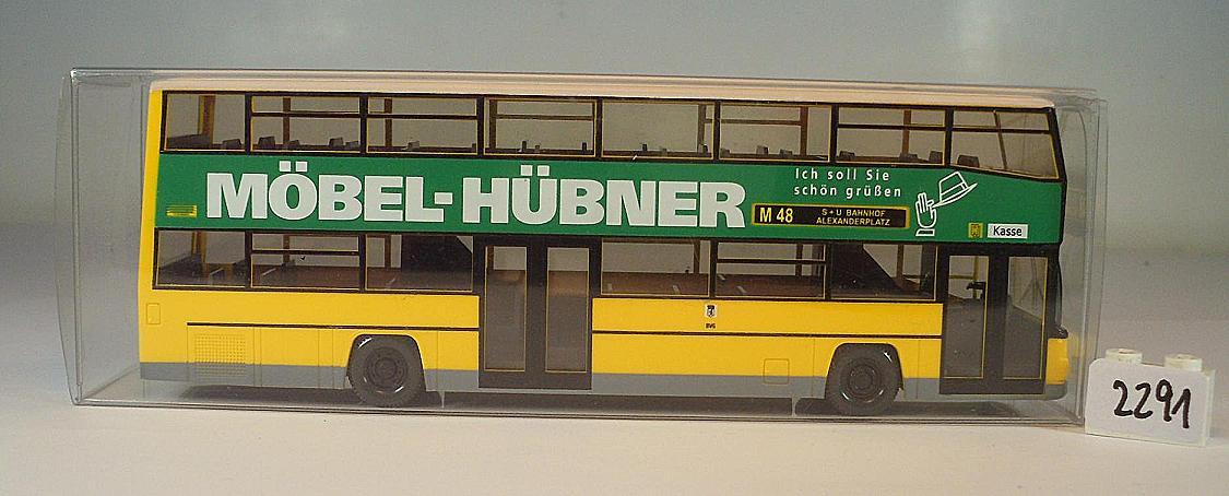 Wiking 187 Man D89 Doppeldeckerbus Bvg Berliner Verkehrsg Möbel