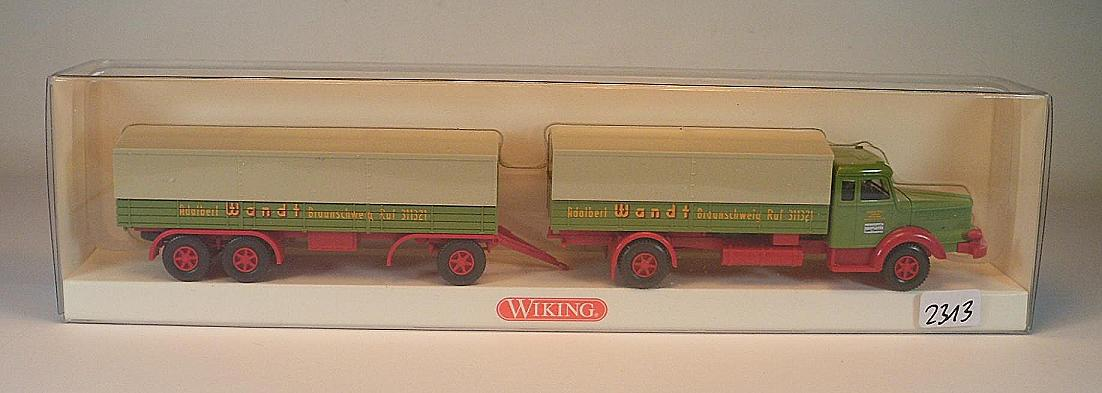 Wiking 048003-1//87 Pritschenlastzug Krupp Titan - Neu